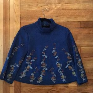 Faux suede embroidered top from Zara